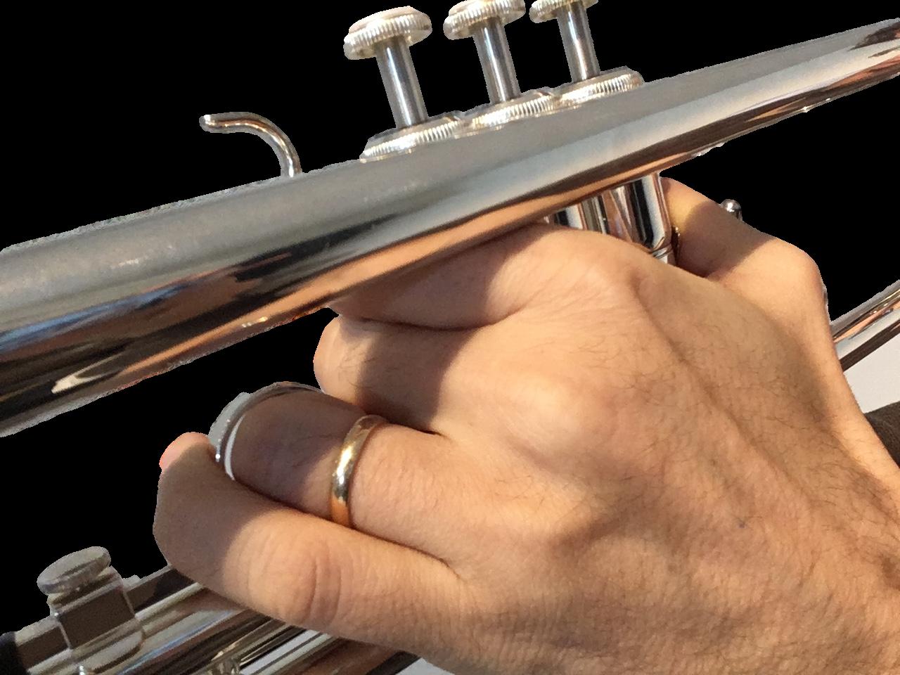Trompete richtig halten